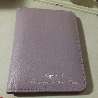 Agnes b. 小b 紫色護照夾 二手