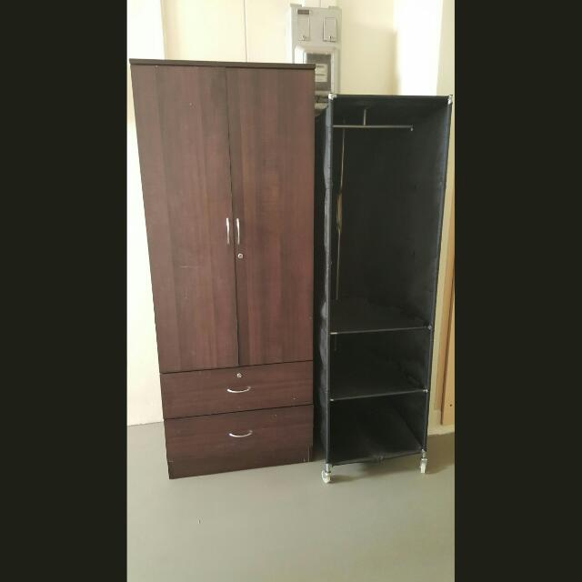 2 Door Wooden Closet Ikea Closet Furniture On Carousell