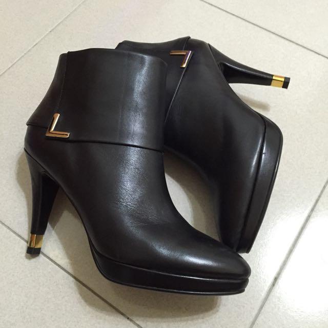 MELROSE~金屬飾邊細跟踝靴_39號