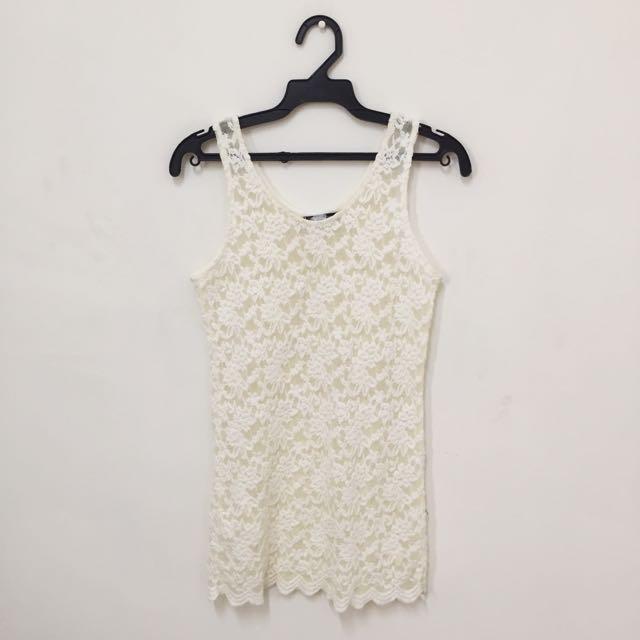 透視蕾絲背心 #一百元洋裝