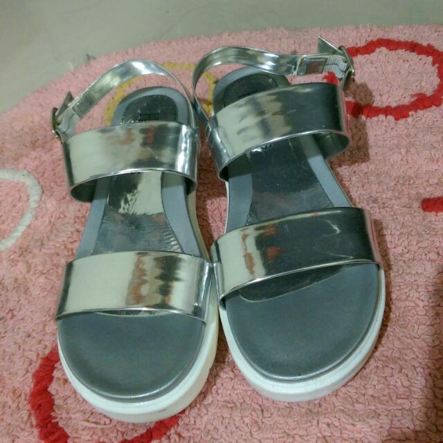 🈹♥ 韓風銀色涼鞋