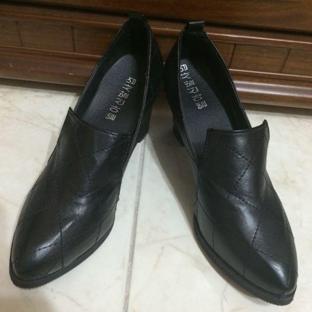 韓版粗跟鞋