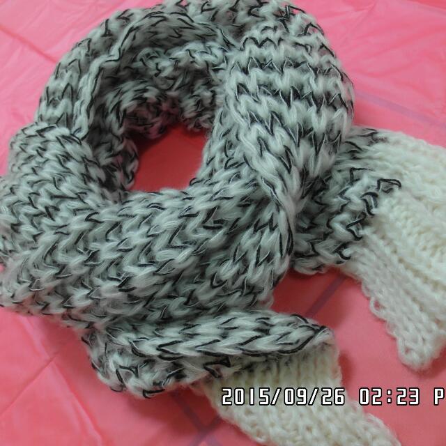 現貨 海馬毛針織保暖圍巾