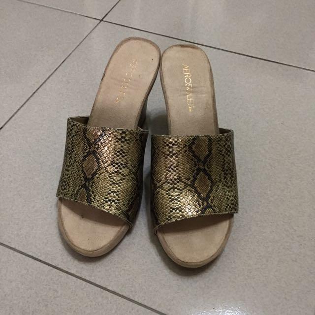 AEROSOLES~蛇紋高跟便鞋~US8/UK6/適39號