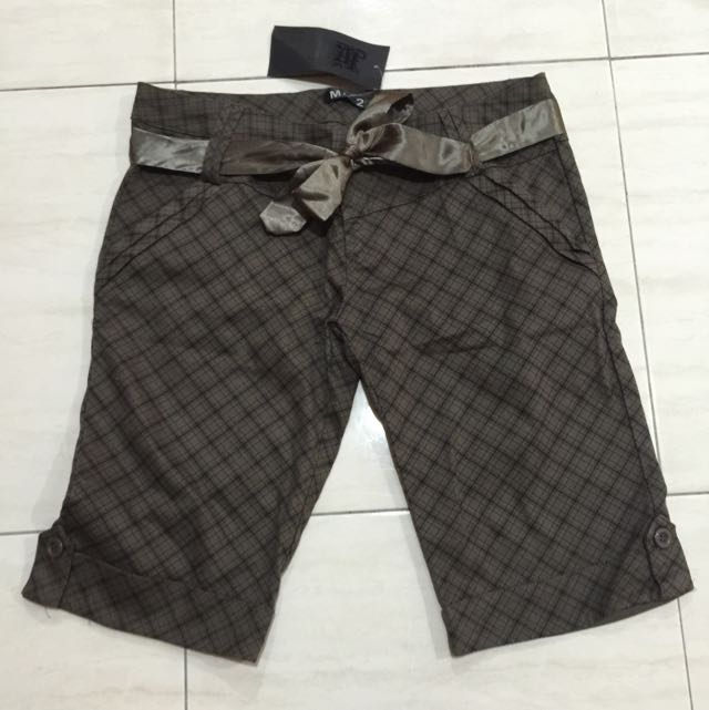 Brown Checkered 3/4 Pants [brand New]
