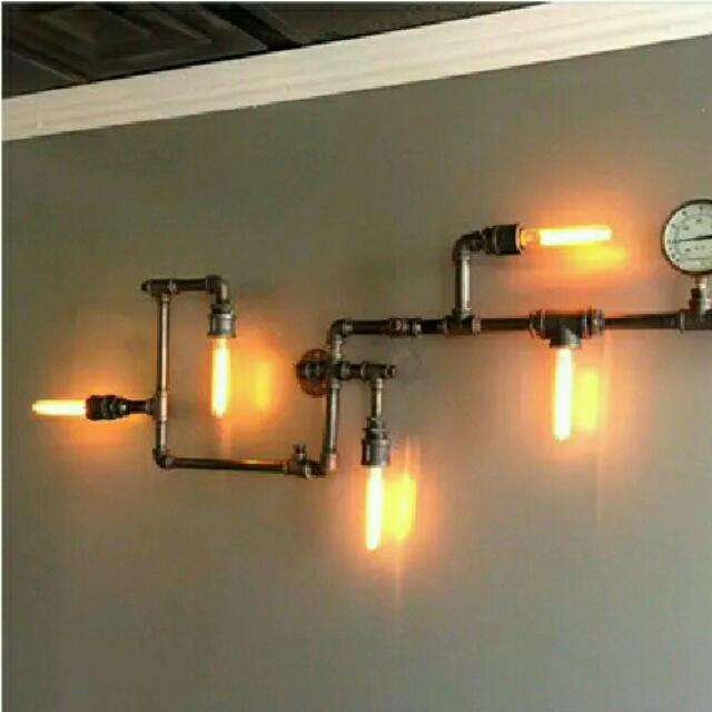 Industrial Pipe Wall Display Light, Furniture, Others On