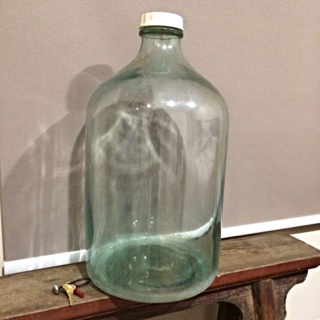Large Vintage Acid Glass Bottle Terrarium Vintage Collectibles