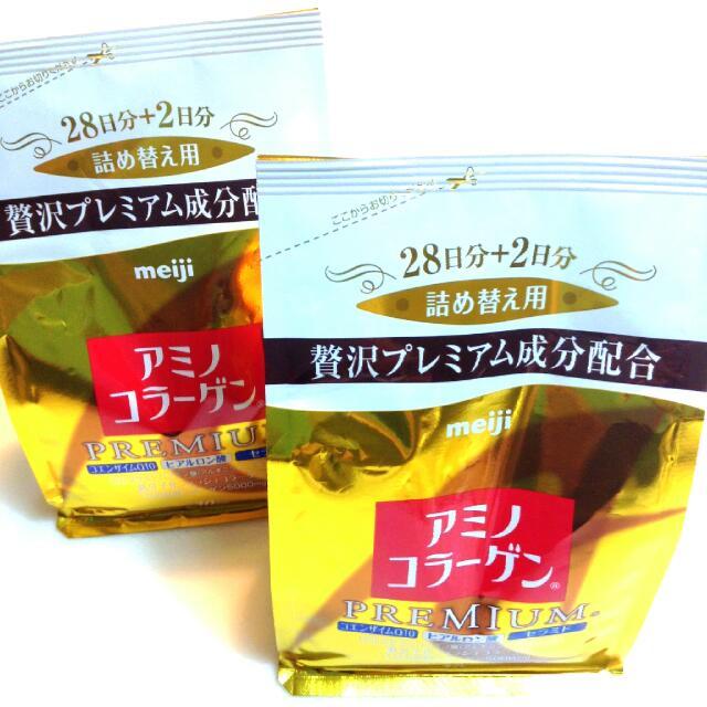 [日本帶回]日本原裝明治meiji 白金尊爵版 膠原蛋白粉補充包30日份