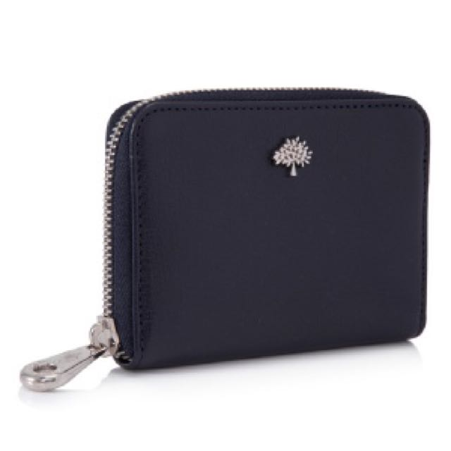 bba4e39017c3 ... get mulberry tree zip around small purse classic grain in midnight blue  luxury bags wallets on