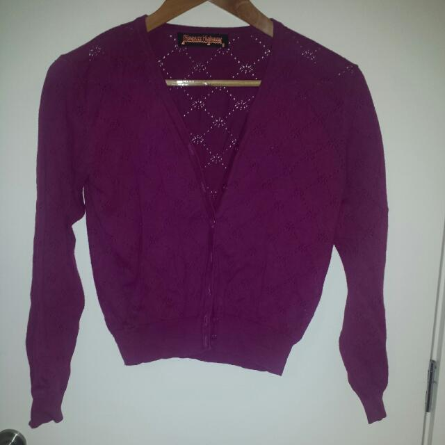 Plum Cardigan Princess Highway Sz8