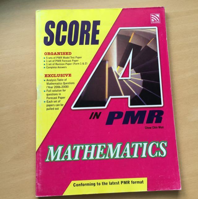 PMR Mathematics Model Paper