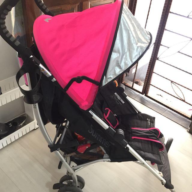 Summer Infant 3d Lite Convenience Stroller Hibiscus Pink Babies