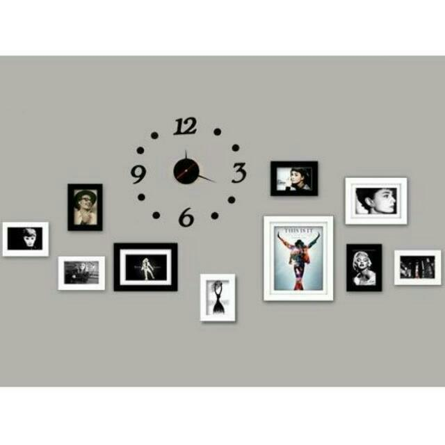 Wall Clock Photo Frames Furniture On Carousell