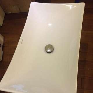 全新京典衛浴/方形立體造型面盆~絕版品