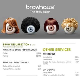 Browhaus Brow Resurrection + Eye Define Package