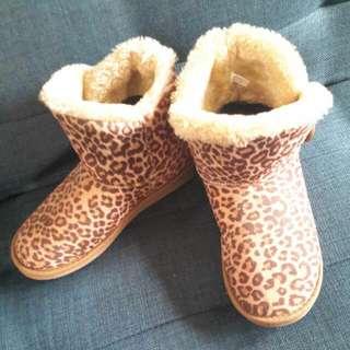 Leopard Boot Merk Suite Blanco Size 37