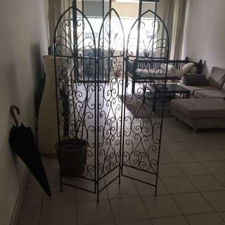 Beautiful Rod Iron Room Divider
