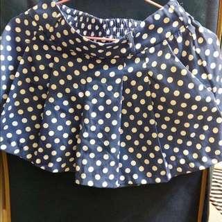 天藍色百摺褲裙