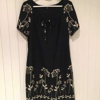 Laura Ashley Embroidered Dress