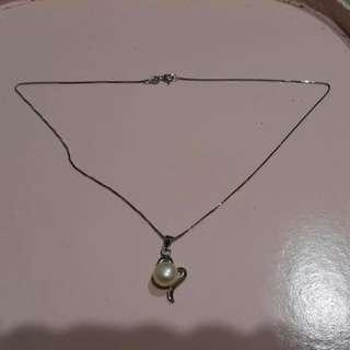 愛心珍珠項鍊