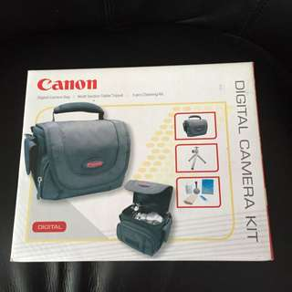 Canon Digital Camera Bag/ Table Tripod/ 5 Pcs Cleaning Kit - Brand New In Box
