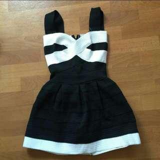 Black and White Bandage Dress