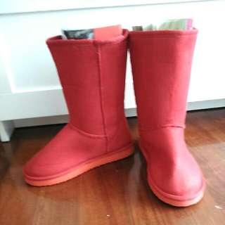 👢紅色雪靴(全新)