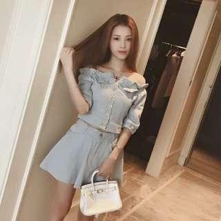 全新!韓版甜美衣+裙