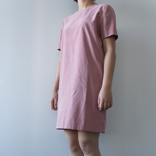 The Whitepepper Simple Shift Dress in Pink