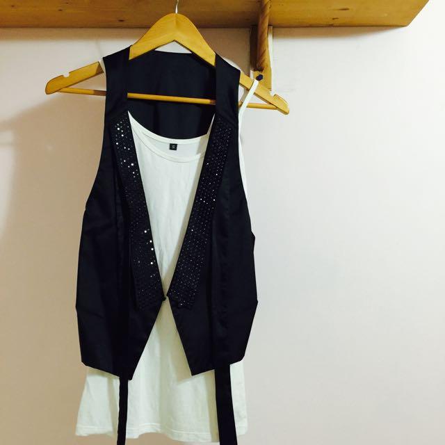 🆕韓國西裝背心 百搭洋裝背心