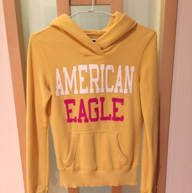 American Eagle美國老鷹 鋪棉帽T Xxs