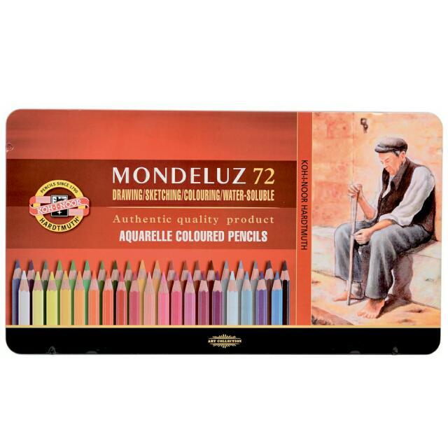 捷克KOH-I-NOOR 72色藝術家水性彩色鉛筆-鐵盒裝