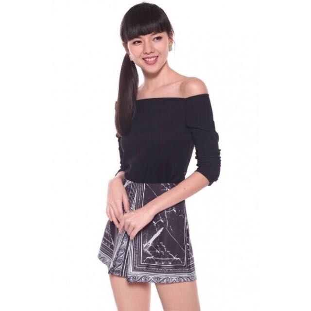 f794859c33f2ee Love Bonito Tienette Off-shoulder Top - Black Size M (NO TRADES ...