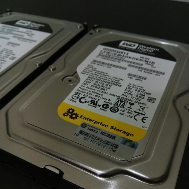 WD RE4 企業級 500GB 硬碟 WD5003ABYX hdd