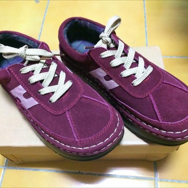 全新zipper原宿風格厚底內刷毛麵包鞋 尺寸40