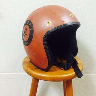 agnes b sport b 小b 皮製安全帽