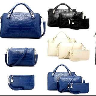 Pre-Order Croc Style Handbags In Set