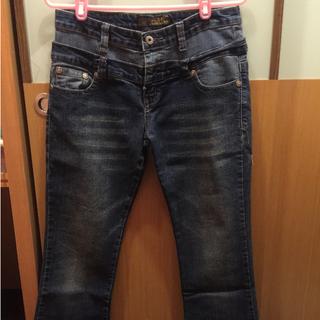 九成新 雙腰頭設計牛仔褲