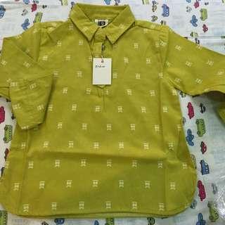全新,秋款襯衫 (芥末黃綠色)約105-110能穿