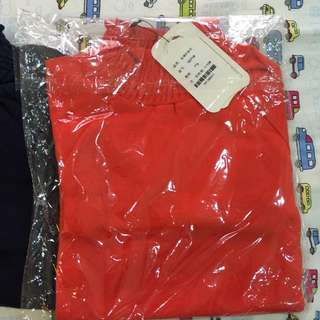 秋款 針織上衣 (藏青和橘色二件)約105公分可穿