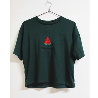 Bingo!現貨特價# 水果印花短袖上衣 - 綠