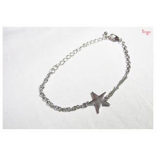 銀色星子(星星質感手鍊)
