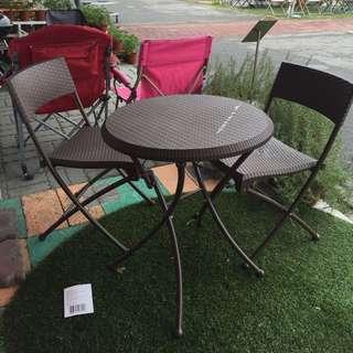 全新桌椅組(1桌2椅)