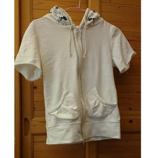 日系短袖白色薄外套