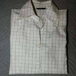 白色襯衫+背心