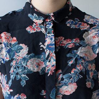 ASOS Cropped Blouse in Vintage Floral