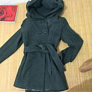 鐵灰色韓版大衣