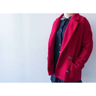 Jóuetie Red Wool Coat