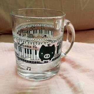 可愛豬豬玻璃馬克杯