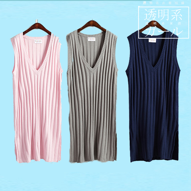 預購🌼學院風深長版毛衣洋裝(4色可選)